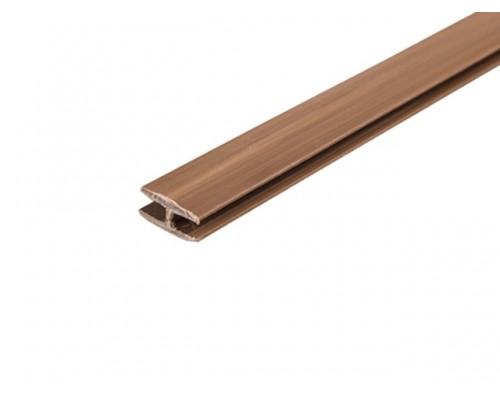 Профиль соединительный для ДВП коричневый с пазом 4мм